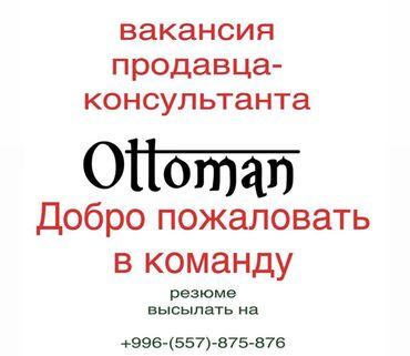 Работа - Бишкек: Продавец-консультант. С опытом. 2/2. Госрегистр