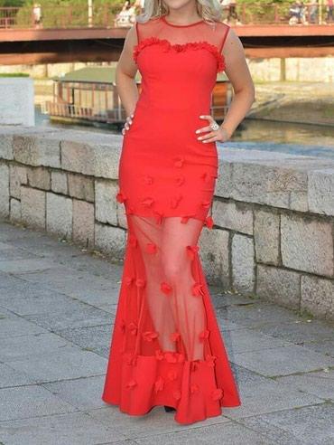 Haljina-crvena-ic - Srbija: Crvena svecana haljina 36 velicina