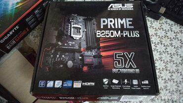 Продаю материнская плата asus prime b250m plus 1151сокет и процессор