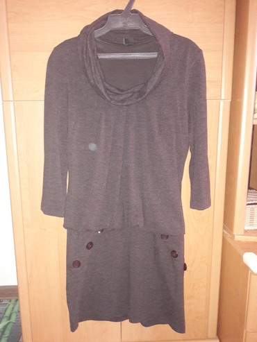 вязаное платье с воротником хомут в Кыргызстан: Платье, Турция, очень приятный материал - 73% вискоза, 17% шерсть, 10%