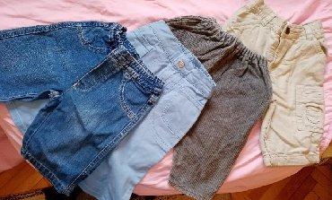 Marke kvaliteta - Srbija: PAKET - Pantalone za bebe od 6-12 mes. Somot teksas i pamuk. Odličan