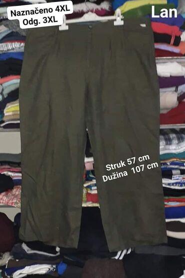 Lanene pantalone - Srbija: Pantalone naznačeno 4xl odgovara za xxxl Lanene  Kvalitetne