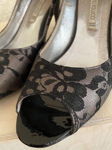 Красивые польские туфли с итальянским дизайном на шпильке 40 размера (