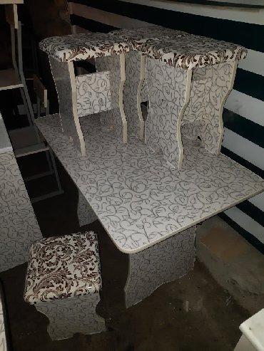 стол на кухню раскладной в Кыргызстан: Стол 4шт табуретка 3000сом Стол 6шт табуретка 4500+доставка Много