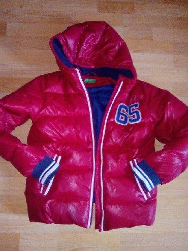 Dečije jakne i kaputi | Vranje: Benetton jakna perjana decija za10,12 godina
