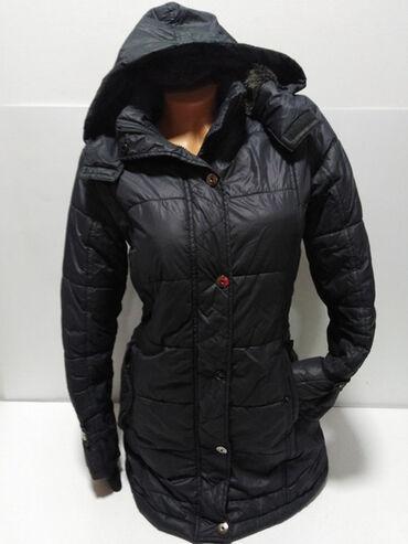 Zimske jakne model - Srbija: Blue Petrol duža zimska jakna sa kapuljačom,prelep strukirani