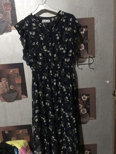 Продаю милое длинное платье с цветочками,носила лишь один раз,г Ош