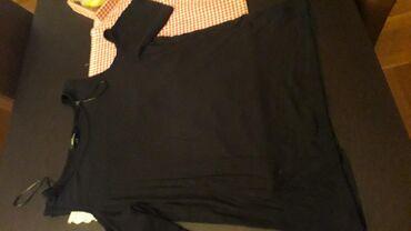 Ženska odeća | Pozarevac: Majca crna,2xl, rebrasti pamuk, kupljena u Americi, bez ostecenja