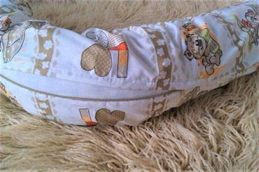 Jastuk za trudnice + navlaka ... Cena kompleta (beli jastuk +navlaka) - Mladenovac