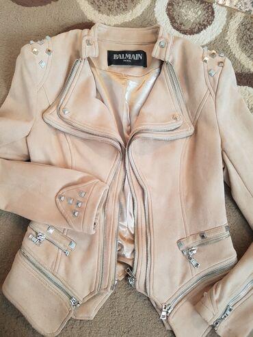 Kopija - Srbija: Kopija 1/1 Balmain zenska kratka jakna, u puder roze boji, malo