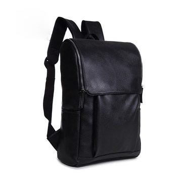 Прочный рюкзак для учёбы и прогулок с эко-кожи в Бишкек
