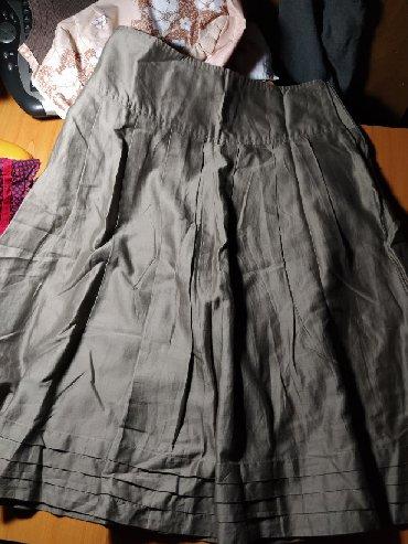 детские комбинезоны шорты в Азербайджан: Юбка коричневая французская в отличном состоянии красная юбка и