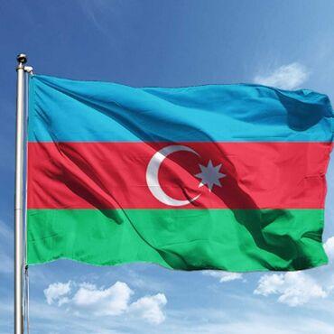 Azərbaycan bayrağı Türkiyə istehsalı 150x225 40 ₼ atlas material iki