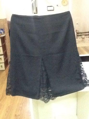 черные женские юбки в Азербайджан: Женская черная юбка с гипюровыми вставками б/у в хорошем состоянии как