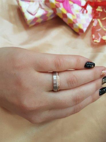 Кольцо из красного и белого золота 585 проба Размер кольца 17.5 в Бишкек