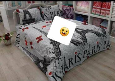 Pamucne posteljine za singl i za francuski lezaj komplet za singl