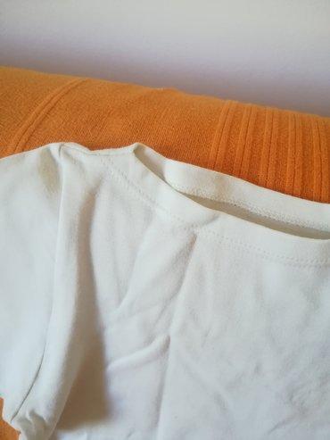 Ženska odeća | Vranje: Kvalitetna belo-svetlo bež pamučna majica sa kratkim rukavima vel L