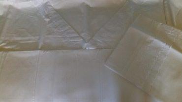 Nova kvalitetna pamucna posteljina,dimenzije na slici..bela. - Kraljevo