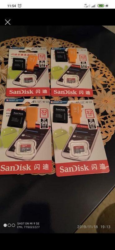 saray heyet ev - Azərbaycan: Sandisk micro kart 32 gbSd perexodnik hədiyyəSumqayıtÇox alana