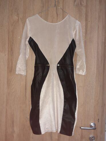Blondy - Beograd: Blondy haljina Mesavina plisanog i koze, nosena 1 od kad je kupljena s