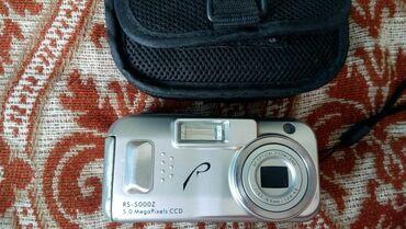 рабочий фотоаппарат в Кыргызстан: Rovershot RS-5000Z f=6.0-16.8mm/1:2.8-4.8 рабочий в чехле, подойдёт в