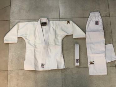 """judo - Azərbaycan: Judo kimonosu """"Mizuno""""-450q lıq 100% pambıq parçadan hazırlanıb.Aşağı"""