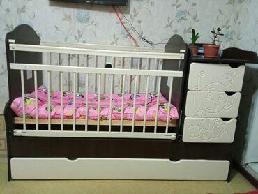 детские 2х ярусные кровати фото и цены in Кыргызстан   ДЕТСКИЕ КРОВАТИ: Продаю детский манеж трансформер (манеж+кровать до 8лет с