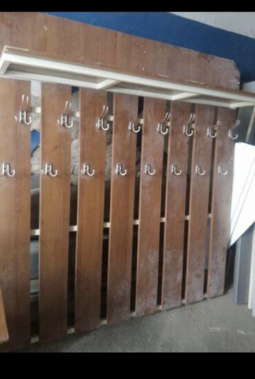 Другая мебель - Кыргызстан: Продается (Вешалка, Полка, Шкаф (б\у) Вешалка ( высота 1.57 м, ширина