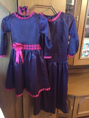 платье мама и дочь в Кыргызстан: Платье дочка мама на прокат 500 сом, конечно на фигуре очень красиво