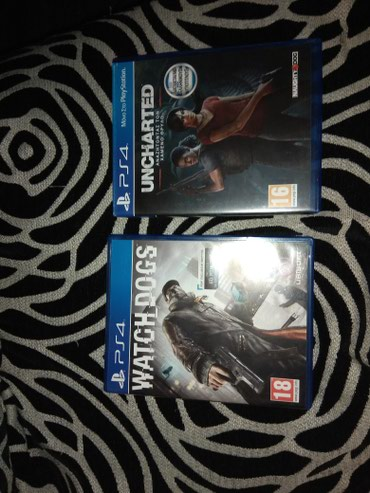 2 PS4 GAMES (WATCH DOGS 1 & UNCHARTED THE LOST LEGACY'S)Σε σε Nea Peramos