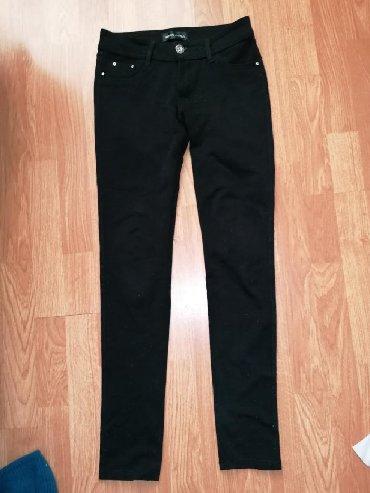 Pamucne - Srbija: Pamucne crne pantalone, vel. S-26