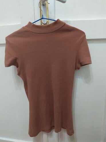 Блузка облигающая цвета терракот