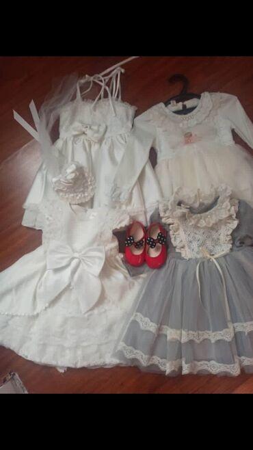 черное платье вышитое бисером в Кыргызстан: Продаю платья для маленькой принцессы 4 платьятуфли подарок производ