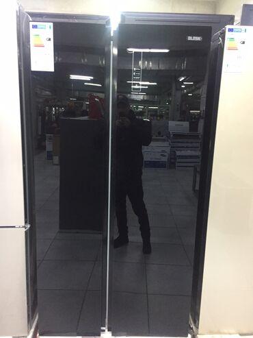 Новый Side-By-Side (двухдверный) Черный холодильник Midea