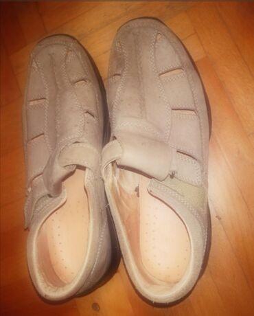 Muške Sandale i Japanke | Srbija: Sandale muske KOZNE nove Italijanske,broj 42,prelepe
