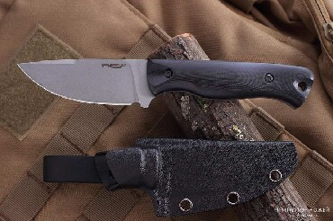 Шкуросъемный нож Fang black, stonewashed - N.C.CustomНож разделочный
