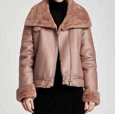брендовые одежды в Кыргызстан: Продаётся Дубленка авиатор Размер S Оригинал Zara покупали в Турции