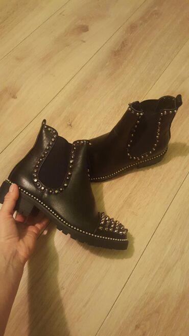 Ženska obuća | Backa Palanka: Ptedivne crne cipele jednom nosene velike mi. kaooo novoo. jako