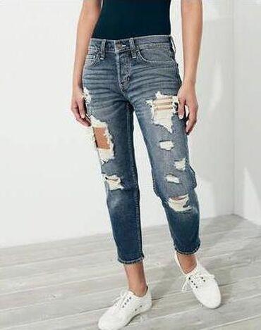 Стильные джинсы -бойфренды на низкой посадке. Оригинал Hollister