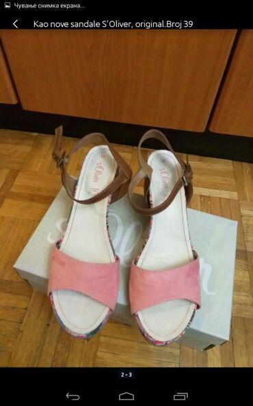 Ženska obuća | Obrenovac: Nove ženske sandale jednom obuvene S Oliver broj 39 original