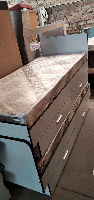спальные кровати с матрасами в Кыргызстан: Кровать односпальная с матрасомСпальная кроватьКровать для