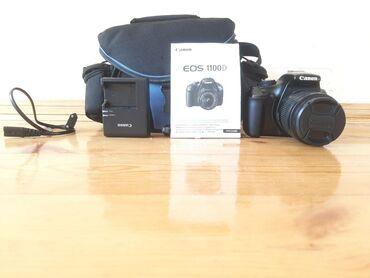 Fotoaparatlar Ağdaşda: Canon 1100d satilir seliqeli iwlenib heç bir problemi yoxdu istenilen