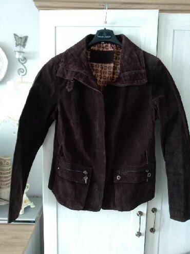 Oprevrnute-koze-boje-vanile - Srbija: Nova jakna Yessica od prevrnute koze braon boje. Odlicno stoji