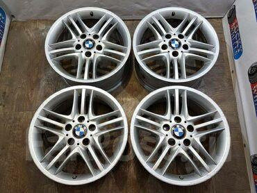 купить шины 205 55 16 лето в Кыргызстан: Продаются диски R17 (89стильБМВ) с шинами (Dunlop зима, липучка). Разм