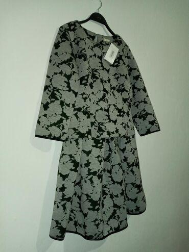 платье рубашка лен в Кыргызстан: Платье Свободного кроя 0101 Brand M