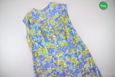 Жіночий літній халатик у квітковий принт, р. XL    Довжина: 111 см Шир