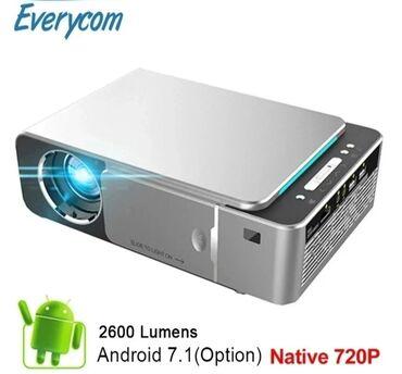 купить домашний музыкальный центр в Кыргызстан: Купить проектор. Портативный проектор Everycom T6 Android, Wi-Fi
