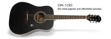 EPIPHONE akustik gitara Model:DR100BK Canta hediyye