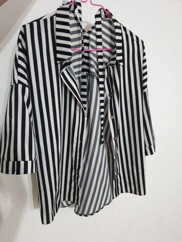 платье рубашка в пол в Кыргызстан: Рубашка в модную полоску р.44-46 р.46-48  Новая !