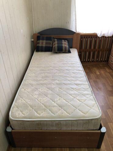 Односпальные кровати - Кыргызстан: Кровать односпальная. Ящик для хранения под матрасом